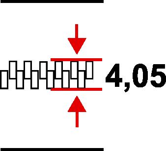 Taśma nr 3 kord - szerokość cząstek