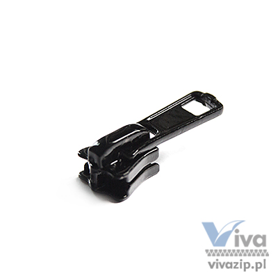 D-5041 metal slider with autolock pull, for plastic (chunky) zipper tape No. 5, available in any color or nickel and oxide