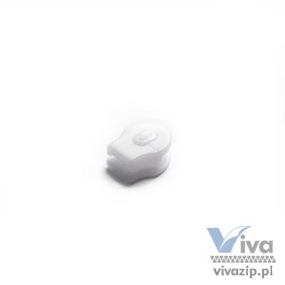 N-2P plastic non-lock slider for bedlinen, for nylon coil zipper tape No. 3, available in white color
