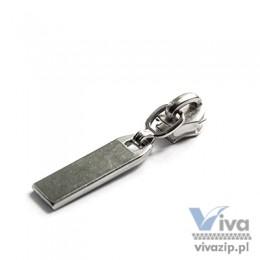 Metallschieber N-290 mit oder ohne Verriegelung für Spiralband Nr. 5 mit Etikett, erhältlich in Nickel