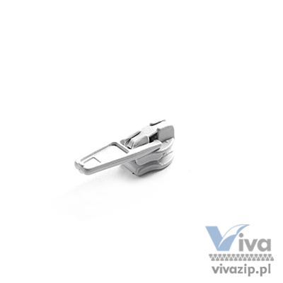 N-31A metal slider with autolock pull, for nylon coil zipper tape No. 3 with cord, available in any color or nickel and oxide