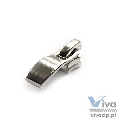 N-322-C metal slider with autolock pull, for nylon coil zipper tape No. 5, available in nickel color