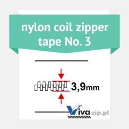 Nylon coil zipper tape No. 3 - width