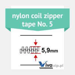 Nylon coil zipper tape No. 5 - width