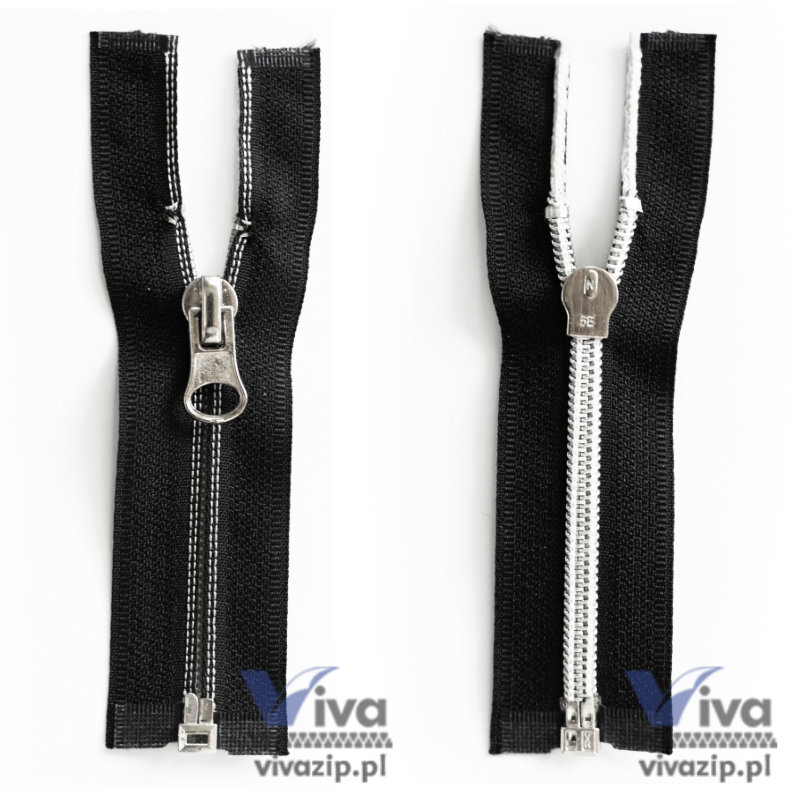 Nylon Coil Open-end Reverse Zipper No. 5