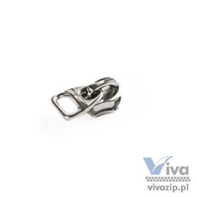 N-012-D Ein Schieber aus Metall ohne Sperre für den Spiral-Band Nr. 5. Perfekt für die Anbringung verschiedener Stoff-, Gummi- oder Leder reißverschlussanhänger.
