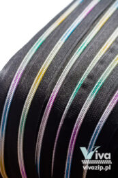 Nylon coil No. 5 tape, color No. 310 with a multi-colored spiral
